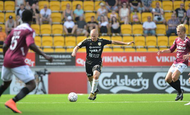 Johannes Laaksonen oli pelipäällä FC Lahtea vastaan.