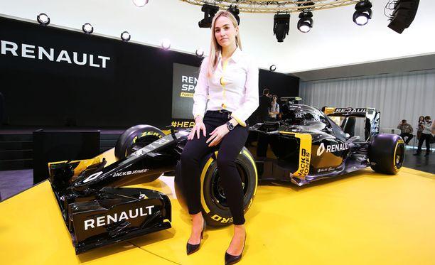 Carmen Jordá on linjannut tavoitteekseen päästä F1-tallin kilpailukuljettajaksi.