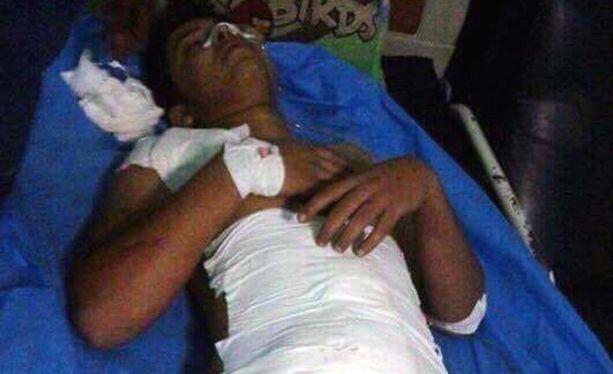 Youssuf loukkaantui vakavasti pommi-iskussa Bagdadissa 2014.