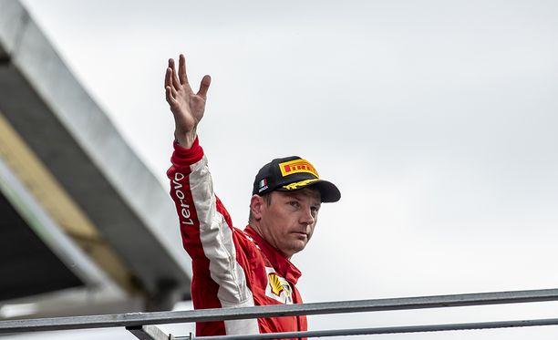 Räikkönen sijoittui toiseksi Ferrarin kotikilpailussa Monzassa.
