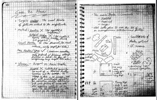 Holmes pohti päiväkirjassaan huolellisesti muun muassa verilöylyn tekopaikkaa (klikkaamalla saat kuvan suuremmaksi).