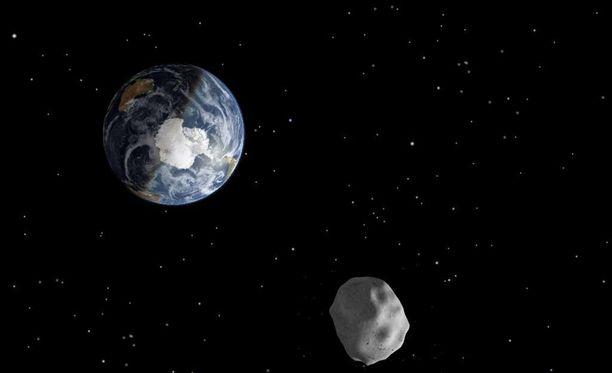 Nasan animoitu kuva asteroidista.
