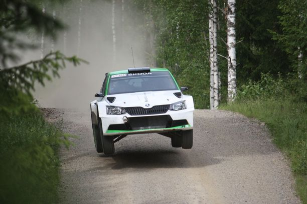 Kalle Rovanperä testasi alkuviikolla Jyväskylän MM-rallia varten.
