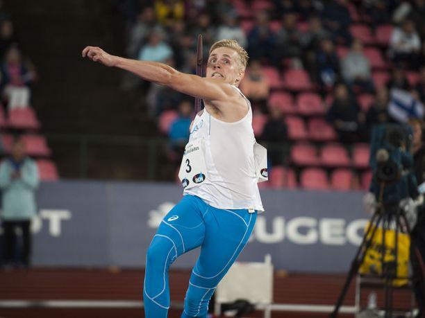 Toni Kuusela kohenteli Turussa ennätyslukemiaan. Kuva viime vuoden Suomi–Ruotsi-maaottelusta.