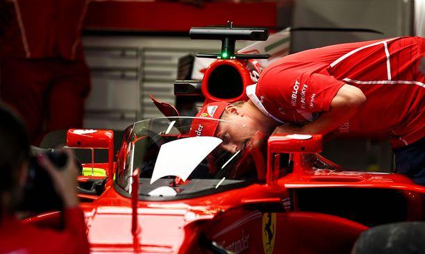 Räikkönen halusi nähdä lasin läpi.