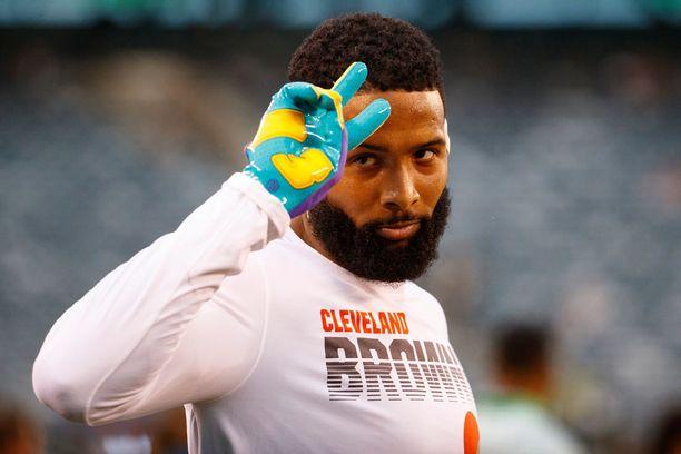 Odell Beckham junior siirtyi viime keväänä New York Giantsista Cleveland Brownsiin.