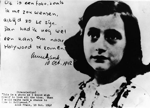 Anne Frank kuoli keskitysleirillä 15-vuotiaana.
