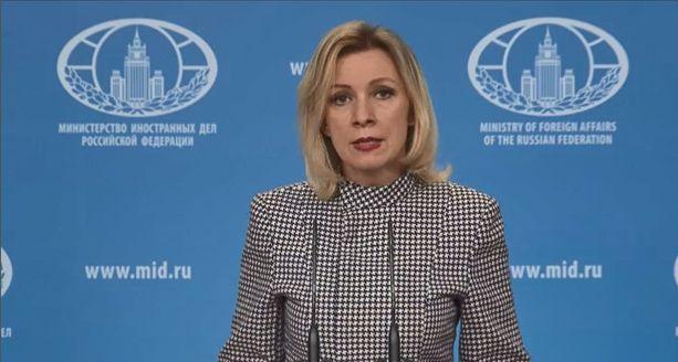 """Maria Zaharova kutsui amerikkalaislehtiä """"vahingollisiksi ja vaarallisiksi""""."""