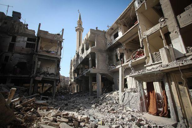 Syyrian joukot tulittivat Venäjän tuella Itä-Ghoutaa.