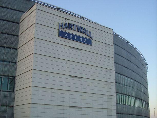 Hartwall-areenalla sattui pieni tulipalo lauantaina.