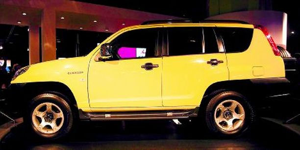 KIINAILMIÖTÄ Changfeng Liebao CS6 SUV on kotoisin Kiinasta ja nyt esillä Detroitissa. Jo viime vuonna kiinalaiset olivat ensi kertaa Detroitissa. Pelin avasi silloin Geely.