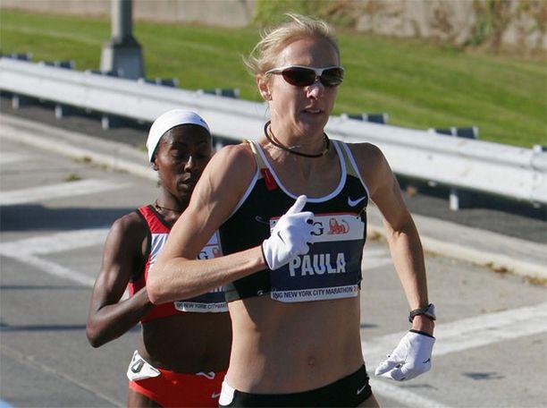 Paula Radcliffe voitti New Yorkin maratonin 2007.