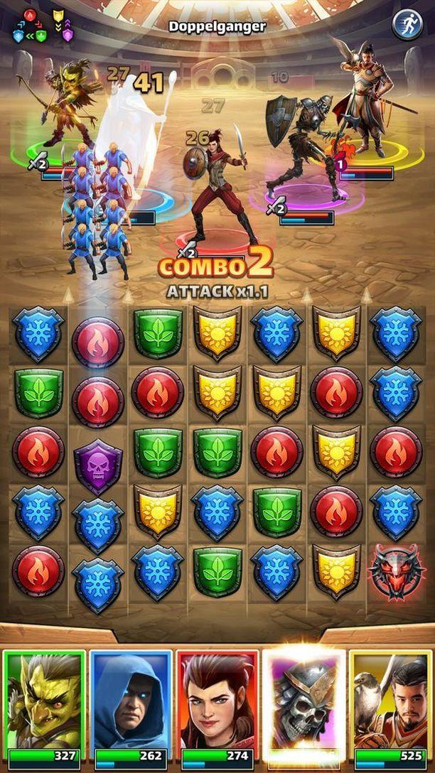 Empires & Puzzles -pelissä taistellaan hirviöitä vastaan.