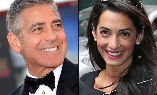 George Clooney, 52, ja Amal Alamuddin, 36, ovat seurustelleet vasta joitakin kuukausia.