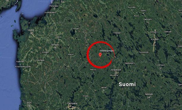 Onnettomuus sattui Keuruun Honkamäellä.
