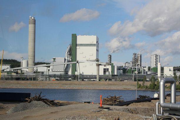 Metsä Groupin Äänekosken biotuotetehdas tuottaa selluloosaa myös vientiin.