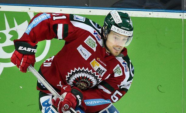 Mats Rosseli Olsen on tuore Ruotsin jääkiekkomestari.