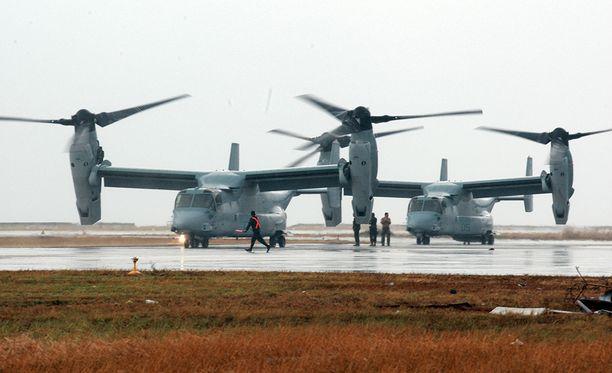 Osprey on puoliksi helikopteri, puoliksi lentokone.