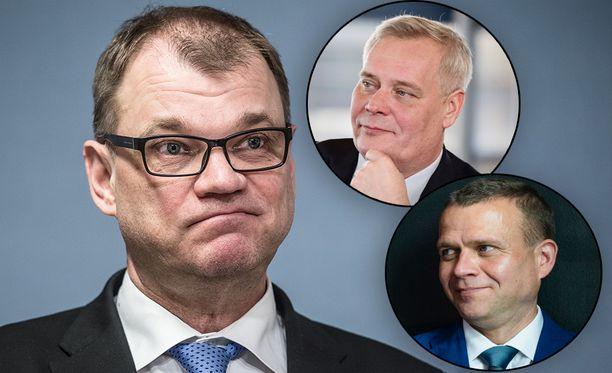 Juha Sipilän johtama keskusta jää SDP:n ja kokoomuksen varjoon houkuttelevuudessa.