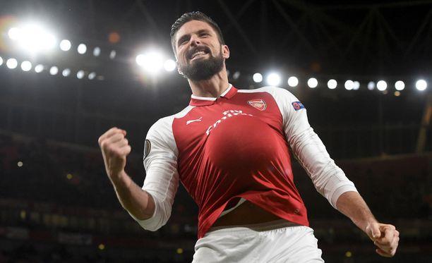 Arsenal on ollut alkukaudella Valioliigan kolmanneksi kovin kotijoukkue. Olivier Giroud on tehnyt lontoolaisille neljä maalia.