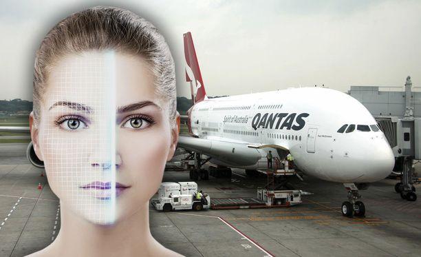 Sydneyn lentokentällä testataan kasvojentunnistusta passien tilalla. Kuvituskuva.