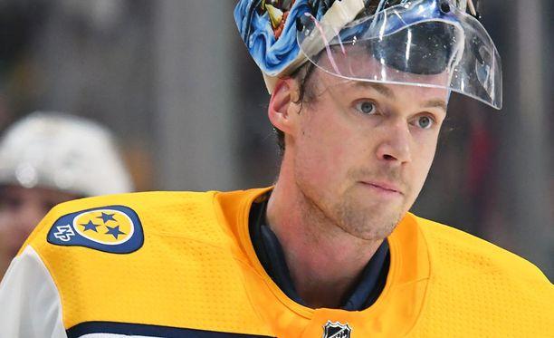 Pekka Rinne on ehdolla NHL:n tämän kauden parhaaksi maalivahdiksi.