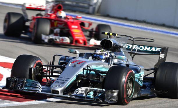 Valtteri Bottas onnistui pitämään Sebastian Vettelin takanaan Venäjän GP:ssä.