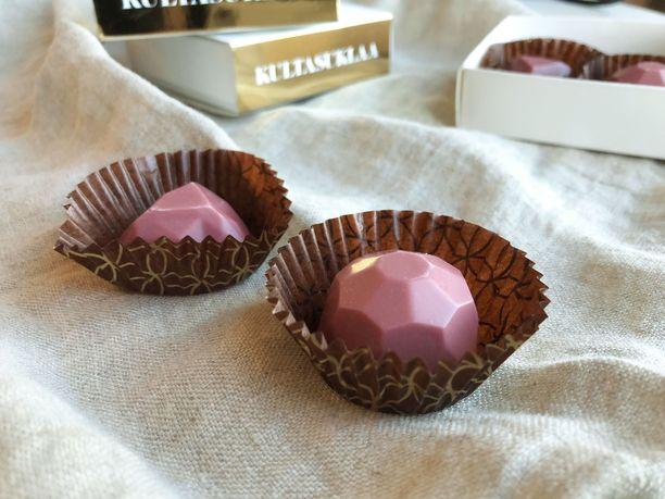 Rubiinisuklaa on luonnostaan vaaleanpunaista.
