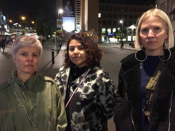 Pia Toivanen, Sumi Moreno ja Hanna Ruax totesivat, ettei heidän Suomessaan ole tilaa vihalle.