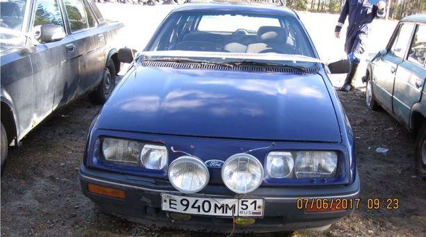 Pitkän reissun on tehnyt tämä vuoden 1986 Ford Sierra ennen kuin päätyi Venäjälle ja lopulta Suomen Tullin haaviin.