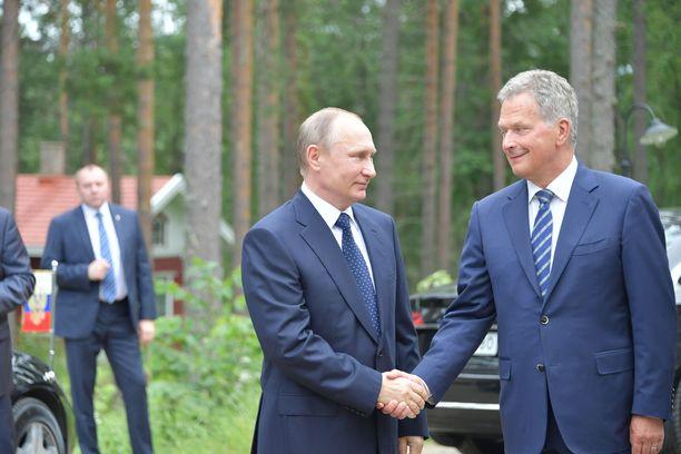 Vladimir Putin ja Sauli Niinistö tapaavat toisiaan säännöllisesti. Kuva Putinin Suomen-vierailulta heinäkuussa 2017.
