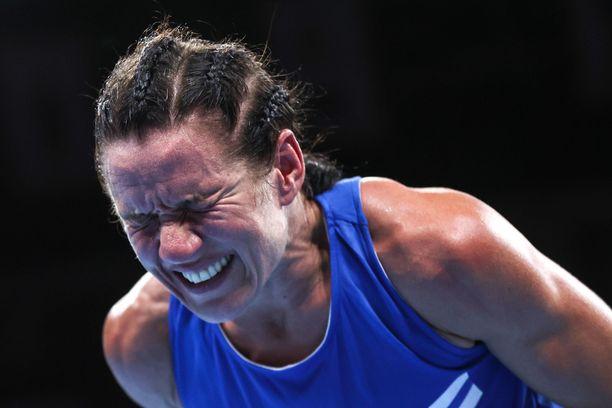 Mira Potkonen murtui kyyneliin välierätappionsa jälkeen.