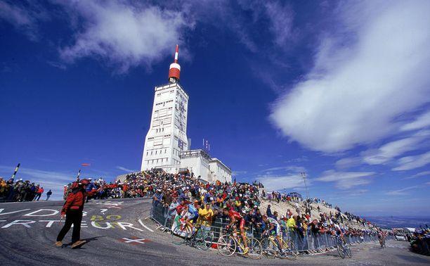 Mont Ventoux'n huippu kuvattuna vuoden 2000 ympäriajossa.