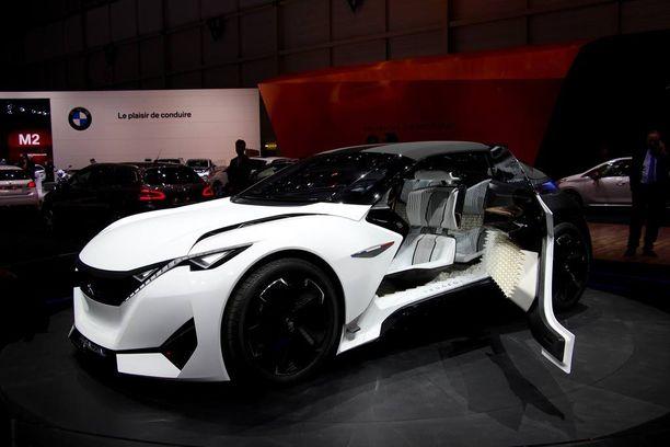 Peugeotin Fractal tutkielma-auto Genevessä oli rakennettu äänentoiston ehdoilla.