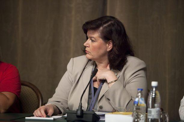 Anne Holmlund toimi sisäministerinä vuosina 2007–2011. Kuva vuodelta 2010.
