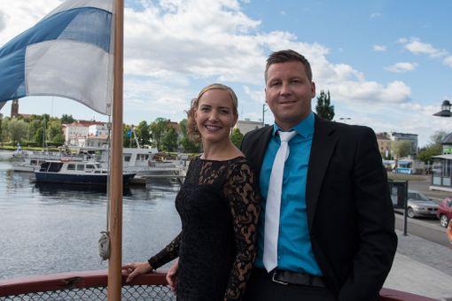 Kuvassa Maria Nyqvist ja Jani Sievinen Savonlinnan oopperajuhlilla.