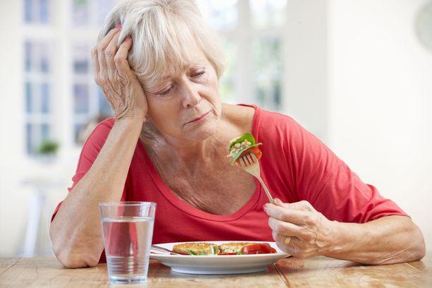 Masennus voi viedä ruokahalun tai lisätä tunnesyömistä.