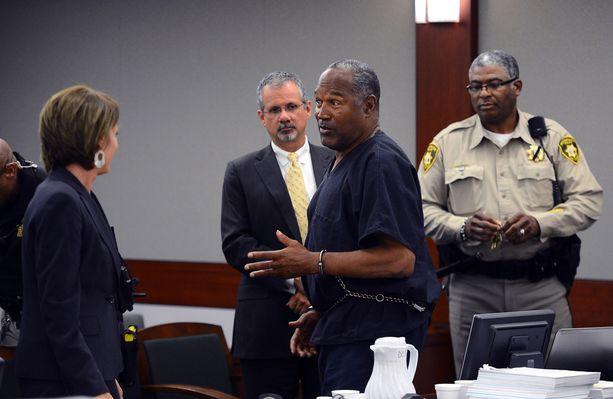 O. J.Simpson oikeudessa vuonna 2013.