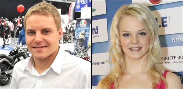 Valtteri Bottas ja Emilia Pikkarainen seurustelevat.