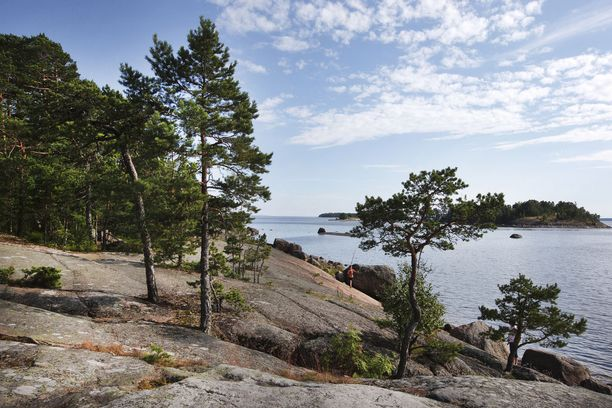 Suomenlahden rantoja Kotkan edustalla.