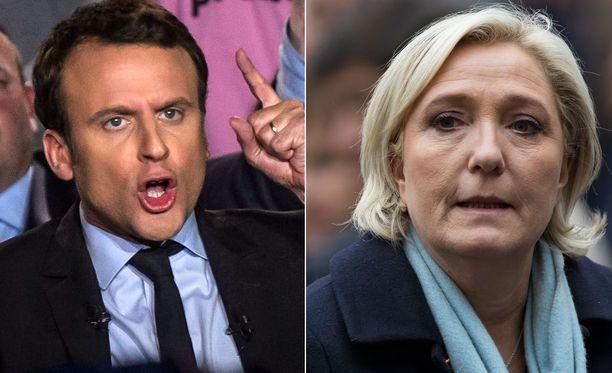 Emmanuel Macron ja Marine Le Pen ovat monessa suhteessa täysin vastakkaiset ehdokkaat.