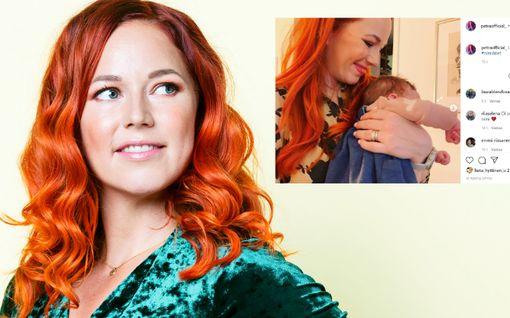 Laulaja Petra Gargano antoi tyttärelleen kauniin nimen – tässä on Leona!