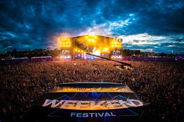 Loppuunmyytyyn Weekend Festival -tapahtumaan odotetaan yli 60 000 kävijää elokuun alussa.
