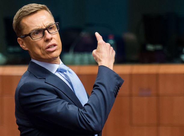 Valtiovarainimistei Alexander Stubb oli eilen Brysselissä.
