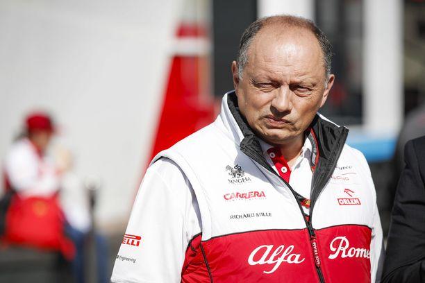 Frédéric Vasseur toimii Alfa Romeon tallipäällikkönä.