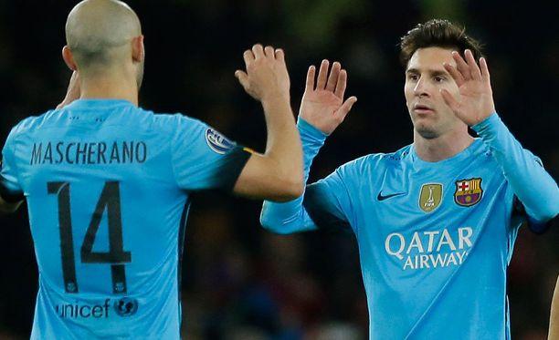 Javier Mascherano ja Leo Messi ovat joukkuekavereita sekä Barcelonassa että Argentiinan maajoukkueessa.