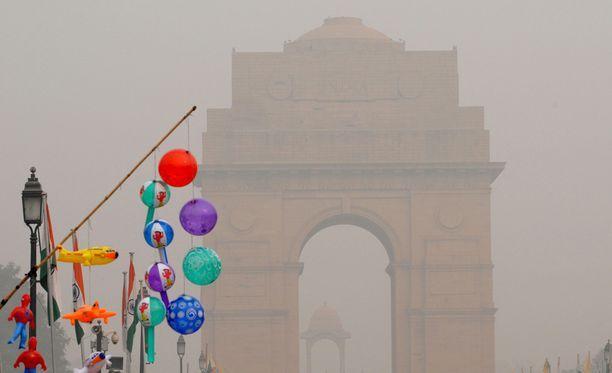 Ilmansaasteet ovat piinanneet Delhiä jo vuosien ajan.