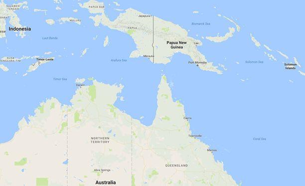 Maanjäristyksen keskus oli Papua-Uuden-Guinean itäpuolella olevien saariryhmien lähistöllä.