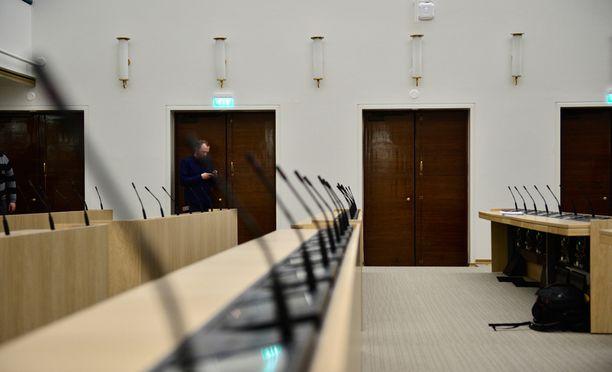 Eduskunnan väliaikaiset tilat sijaitsevat Sibelius-akatemiassa remontin ajan.