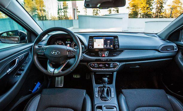 Selkeää ja tilavaa. Ohjaamo muistuttaa paljon Hyundai IONIQia.